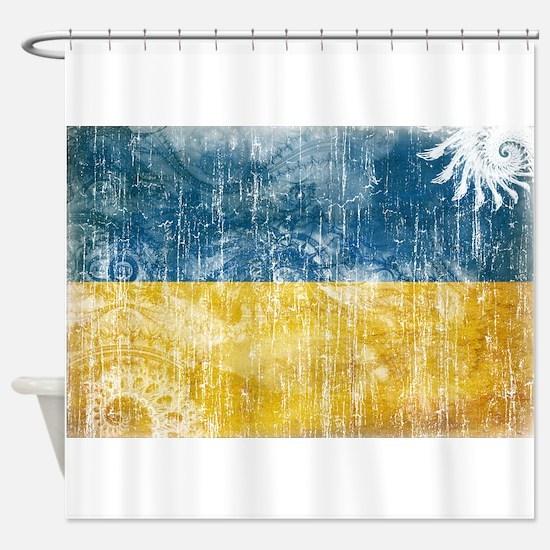 Ukraine Flag Shower Curtain