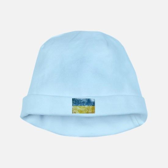 Ukraine Flag baby hat