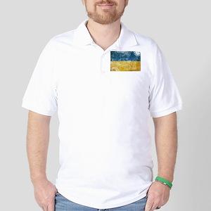 Ukraine Flag Golf Shirt