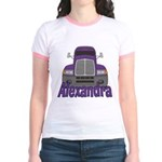 Trucker Alexandra Jr. Ringer T-Shirt