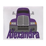 Trucker Alexandra Throw Blanket
