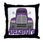 Trucker Alexandra Throw Pillow
