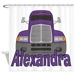 Trucker Alexandra Shower Curtain