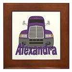 Trucker Alexandra Framed Tile