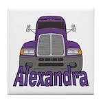 Trucker Alexandra Tile Coaster