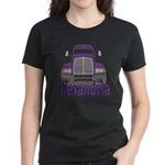 Trucker Alexandria Women's Dark T-Shirt
