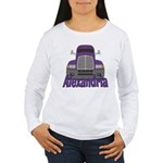 Trucker Alexandria Women's Long Sleeve T-Shirt