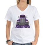 Trucker Alexandria Women's V-Neck T-Shirt