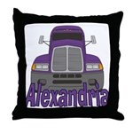Trucker Alexandria Throw Pillow