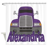 Trucker Alexandria Shower Curtain