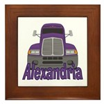 Trucker Alexandria Framed Tile