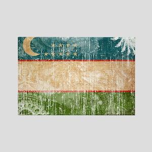 Uzbekistan Flag Rectangle Magnet