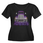Trucker Alexis Women's Plus Size Scoop Neck Dark T