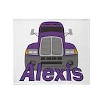 Trucker Alexis Throw Blanket