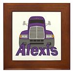Trucker Alexis Framed Tile