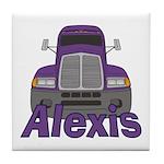 Trucker Alexis Tile Coaster