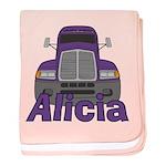 Trucker Alicia baby blanket