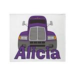 Trucker Alicia Throw Blanket