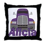 Trucker Alicia Throw Pillow
