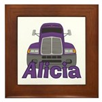 Trucker Alicia Framed Tile