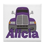 Trucker Alicia Tile Coaster