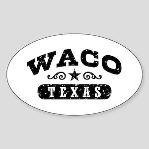 Waco Texas Sticker (Oval)