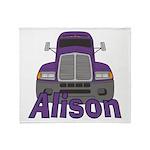 Trucker Alison Throw Blanket