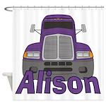 Trucker Alison Shower Curtain