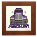 Trucker Alison Framed Tile