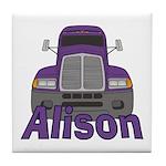 Trucker Alison Tile Coaster