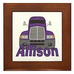 Trucker Allison Framed Tile
