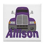 Trucker Allison Tile Coaster