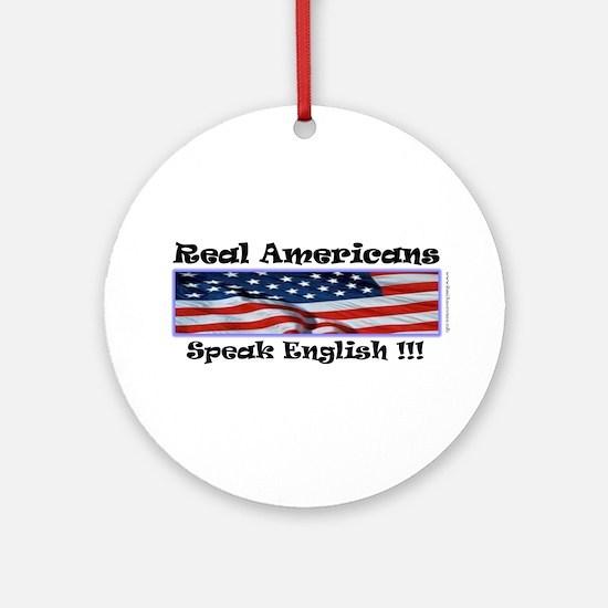 American English Ornament (Round)