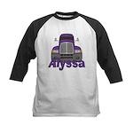 Trucker Alyssa Kids Baseball Jersey