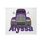 Trucker Alyssa Throw Blanket