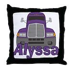 Trucker Alyssa Throw Pillow