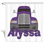 Trucker Alyssa Shower Curtain