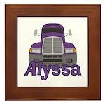 Trucker Alyssa Framed Tile