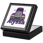 Trucker Alyssa Keepsake Box