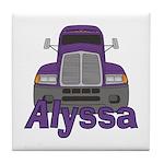Trucker Alyssa Tile Coaster