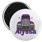 Trucker Alyssa Magnet