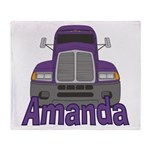 Trucker Amanda Throw Blanket