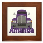 Trucker Amanda Framed Tile