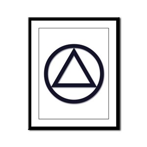 A.A. Symbol Basic - Framed Panel Print