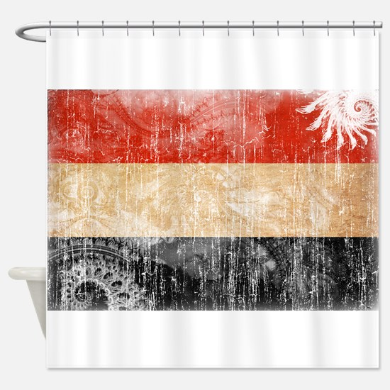 Yemen Flag Shower Curtain
