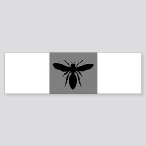 Wasp Silhouette on Grey Sticker (Bumper)