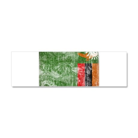 Zambia Flag Car Magnet 10 x 3