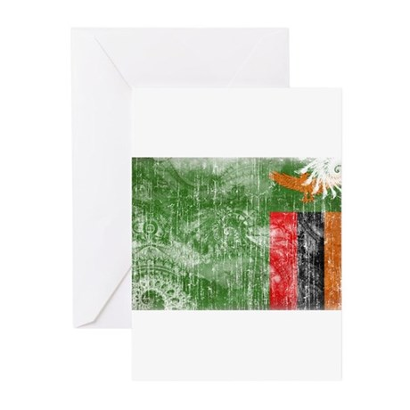 Zambia Flag Greeting Cards (Pk of 20)