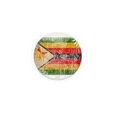 Zimbabwe Flag Mini Button (100 pack)