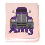 Trucker Amy baby blanket